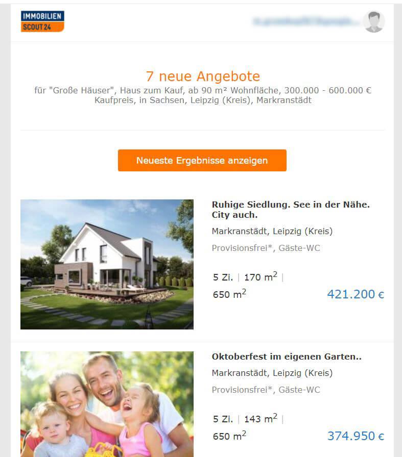Die Suche nach dem Traumhaus auf Immobilienscout 24