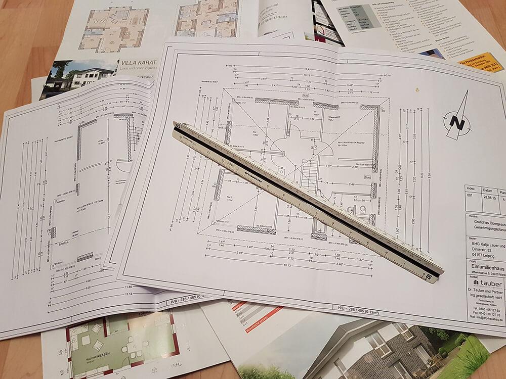 Erste Ideen für die Grundrissplanung werden gesammelt