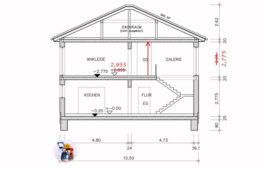 Was kostet eine höhere Deckenhöhe bei einem Neubau?