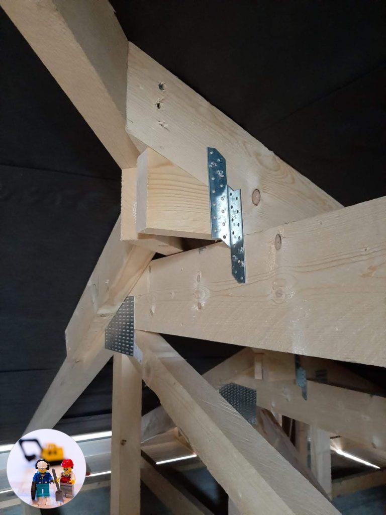Binderdachstuhl fertig montiert