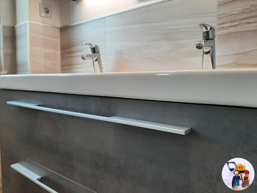 Waschtischunterschrank Doppelwaschtisch Auszug