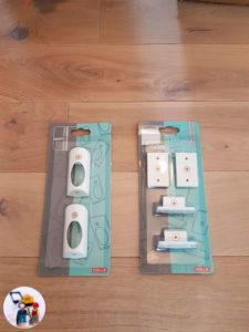 Montageteile für den Schubkasteneinsatz in den Halterungen