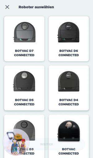 Neato Botvac D7 Connected Test App 01 Inbetriebnahme