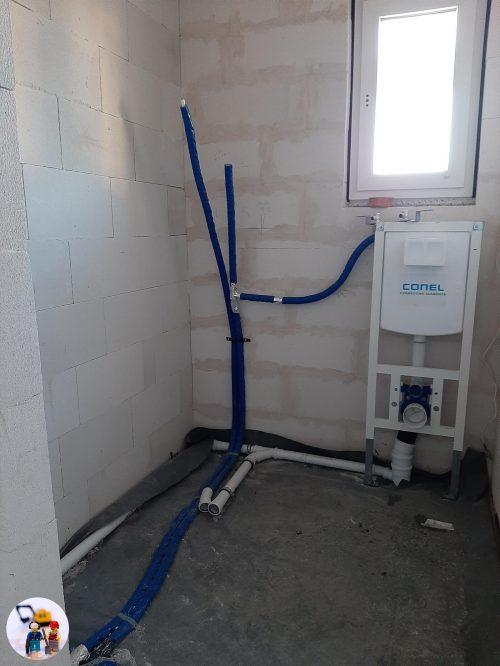 Sanitärinstallation Gäste WC inklusive WC-Vorwandelement